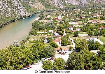 Aerial view on Pocitelj village.