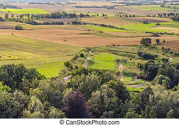 Aerial view on rural