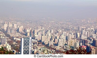 Aerial view on skyscrapers. Chile