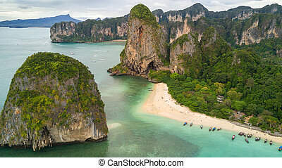 Aerial view on Thailand beach