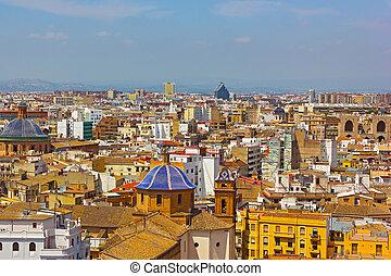 Aerial view on Valencia city.