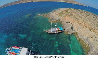 Aerial view on yacht marina, Malta