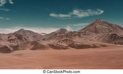 Aerial, View Onto Putana Volcano, Chile - cine version -...