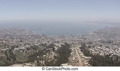 Aerial, View Onto Valparaiso, Chile - flat version - This...