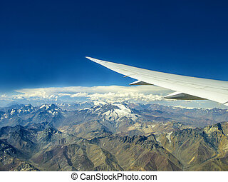 aerial view ot the mountains of the Andes