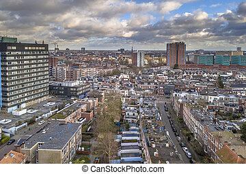 Aerial view over Groningen south