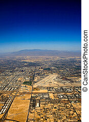 Aerial view over Las Vegas