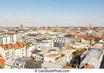 Aerial view over Munich