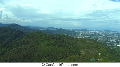 Aerial view over Phuket Hills and beaches, Thailand