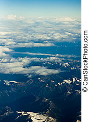 Aerial View over the Rocky Mountains of Canada