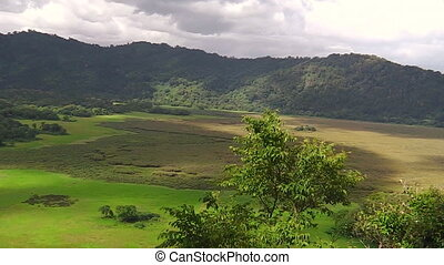 panorama of Arusha National Park