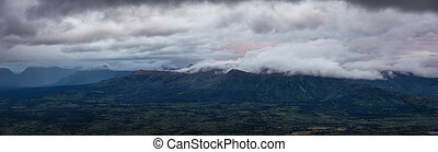 Aerial View. Panoramic View of Canadian Mountain Landscape