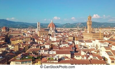 Aerial view. panoramic view of Florence in Italy