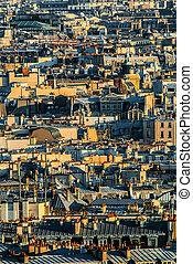 aerial view paris cityscape  France