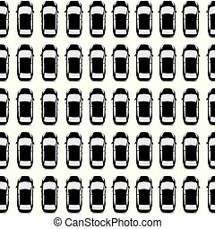Aerial view parking with lots of black cars