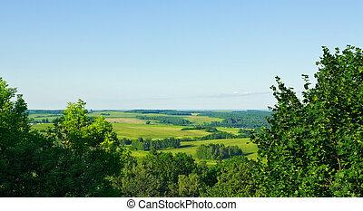 aerial view rural landscape