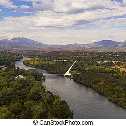 Aerial View Sacramento River Redding California Bully Choop ...