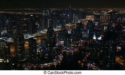 aerial view Sheikh Zayed Road