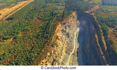 AERIAL VIEW. Simferopol Crushed Stone Pit
