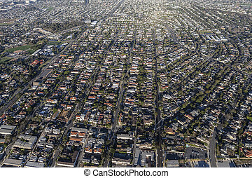 Aerial View Southern California South Bay Housing