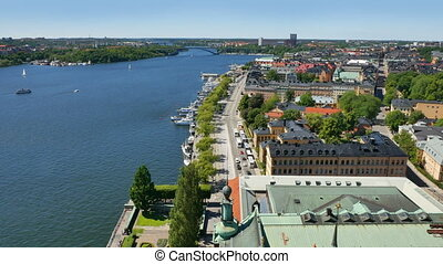 Aerial view. Stockholm city - Aerial view. Stockholm. Old...