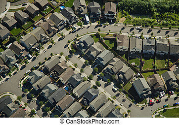 Aerial View - Suburban Neighborhood