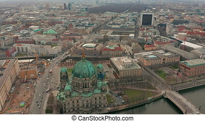 Aerial view. the Berlin Cathedral 4K.