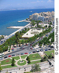 Aerial view to Mediterranean city