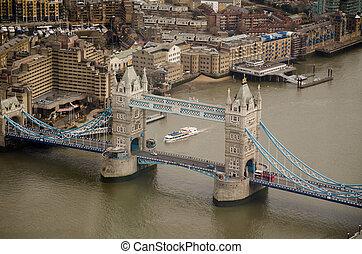 Aerial View, Tower Bridge, London