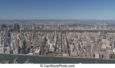aerial view upper manhattan