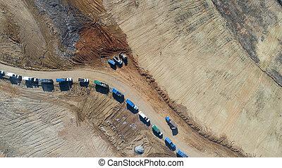 Aerial Views Of A Municipal Trash Dump