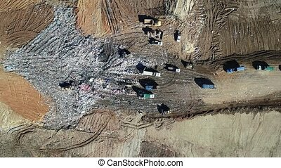 Aerial Views Of A Municipal Trash Dump - Aerial views of a ...
