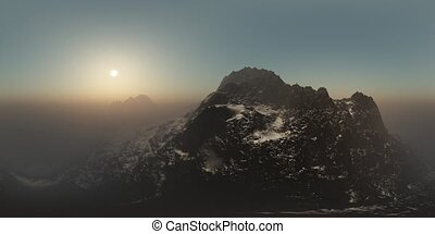 aerial vr 360 panorama of mountains. made with the one 360...