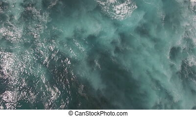 Aerial waterscape of blue ocean - Aerial shot of blue ocean....