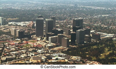 Aerial, West Los Angeles, Californi - Flying over Century...