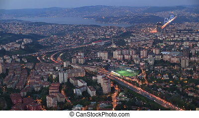 aerial wiev istanbul - aerial view at Istanbul city Turkey