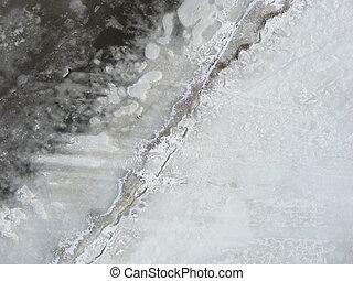Aerial winter shoreline. - Unique aerial perspective of...