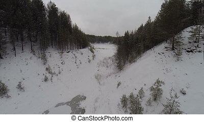 Aerial: winter wonderland black forest - winter landscape in...