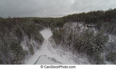 Aerial: winter wonderland black forest