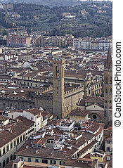 aerialview of florence - aerial view of florence take from ...