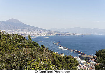 aerialview of naples take from certosa