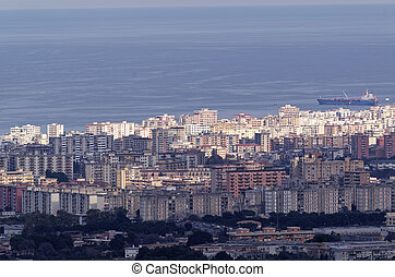 aerialview of palermo in sicily