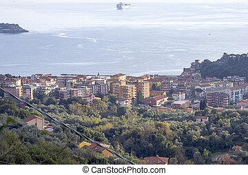 aerialview of san terenzo a very beautiful village in italy
