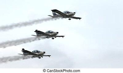 aerobatic aircraft in flight