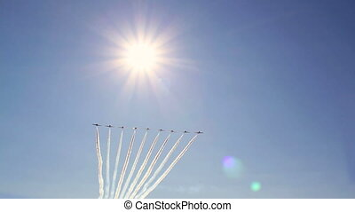 Aerobatic team flying at airshow - Canadian Air Force...