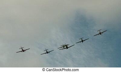 Aerobatic team in the sky