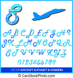 Aerobatics in an airplane alphabet letters and numbers