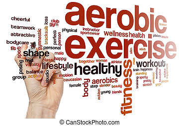Aerobic exercise word cloud
