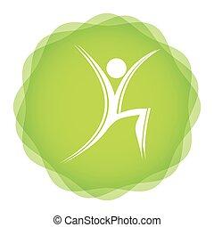 aerobic, fitness, pictogram