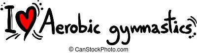 Aerobic gymnastics love